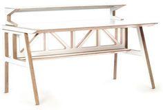 Context Furniture Truss Library Desk | 2Modern Furniture & Lighting