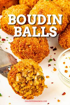 Boudin Balls - This easy boudin balls recipe is the perfect appetizer, with Cajun boudin sausage hand formed, breaded and fried until golden. Make a batch tonight! Great for parties, game day, or snacking. Cajun Cooking, Cooking Recipes, Cajun Food, Donut Recipes, Easy Cajun Recipes, Meal Recipes, Rice Recipes, Crab Cakes, Gumbo
