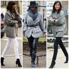 emanuelle alt's oversized grey coat