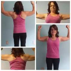 Results after 21 Day Fix Workouts.Seeing some definition. Top Left and Bottom Right