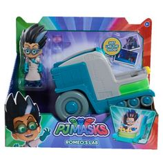 Order now Disney Junior PJ Masks Romeo's Lab Vehicle & Figure for Christmas Gifts Idea Deals Popular Kids Toys, Toys Uk, Pj Mask, Disney Junior, Action Poses, Christmas Toys, Christmas Ideas, Imaginative Play, Pretend Play