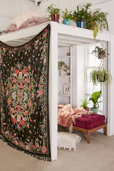 Plum & Bow Rosa Floral Scarf Tapestry - Urban Outfitters