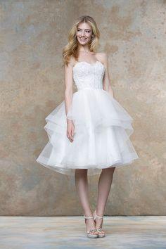 1a64c84841 14 Best Knee Length Wedding Dress images in 2016 | Wedding dresses ...