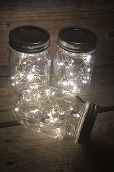 Mason jar lamps. Fairy lights, Great buy, Battery operated led lights with the smallest battery pack on the market for beautiful Mason jars This listing is for 12 Mason jar lanterns pint or quart size