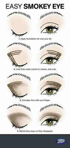 Look better immediately: You should know these makeup tips! With this trick, smokey eyes are no longer a problem even for beginners! tips eye make-up step by st. Smoky Eye Tutorial, Eyeliner Tutorial, Eyeshadow Tutorial For Beginners, Makeup Tutorial For Beginners, Smokey Eyes, Smokey Eye Makeup, Eyeliner Makeup, How To Smokey Eye, Simple Smoky Eye