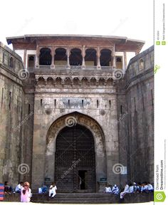 The entrance of the famous Shaniwarwada fort in Pune,India built by Shivaji Maharaj.