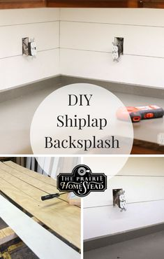 DIY Shiplap Kitchen Backsplash The Prairie Homestead Rustic Kitchen Design, Diy Kitchen Decor, Kitchen Ideas, Kitchen Trends, Rustic Backsplash Kitchen, Shiplap In Kitchen, Beadboard Backsplash, Kitchen Tips, Copper Backsplash