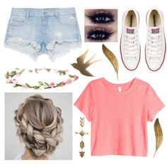 Ootd by sofiahernandez12 on Polyvore featuring polyvore, fashion, style, H&M, Zara, Converse and clothing