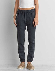 AEO Soft Jogger , Lead   American Eagle Outfitters