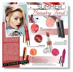 """The Best Summer Lip Balm"" by ines-nene-pt ❤ liked on Polyvore featuring beauty, Rimmel and White Label"
