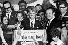 Robert F. Kennedy speaks to campaign workers at the Ambassador   Hotel minutes before being shot.    Following a brief victory speech delivered just past midnight on Thursday,   June 5 at The Ambassador Hotel in Los Angeles, Kennedy was shot by   Sirhan Sirhan. Mortally wounded, he survived for nearly 26 hours, dying   early in the morning of June 6.