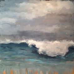 """Gray Wave"" - Original Fine Art for Sale - © Deborah Newman"