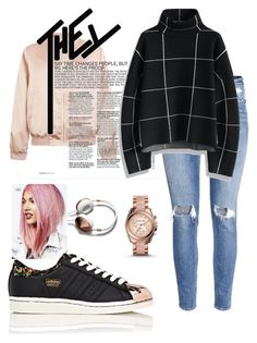"""""""sporty chic"""" by leavonn on Polyvore featuring H&M, Cameo Rose, adidas, Chicwish, Abercrombie & Fitch and Michael Kors"""