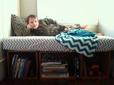 Crib Mattress & Plastic Crates: Calculating Blessings: Blessing #223 - The Reading Nook Bench