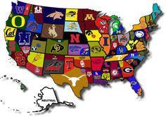 College Football Hate Map Is Confusing College Football - Map of sports teams in us