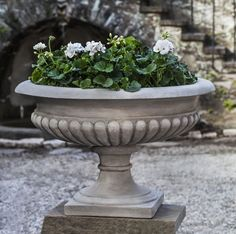 Kingscote Cast Stone Urn Planter Made By Campania International
