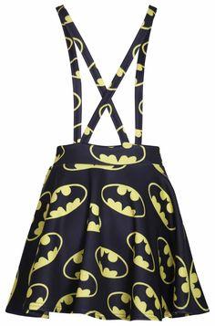 Batman Suspenders Mini-Skirt