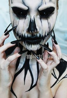 scary makeup - Jack Skellington                                                                                                                                                                                 More