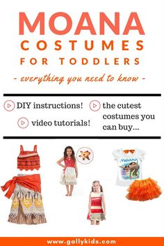 Everything you need to know to dress up your toddler with a Moana costume. A list of the many different designs available plus DIY instructions and video tutorials