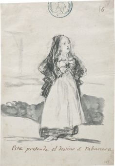 Esta pretende el destino de rabanera. Álbum C, 16 1808 - 1814. Wash, Brush, Bistre on laid paper Goya Y LUCIENTES, FRANCISCO DE