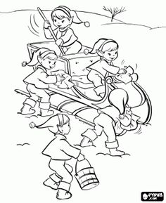 Pictures Activity Of Christmas Elves Coloring Pages