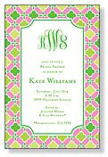 Pink and green invite