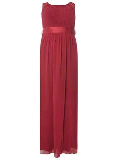 "**Showcase Curve Berry Red ""Natalie"" Maxi Dress"