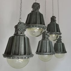 1950's Factory Lights
