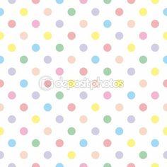 Textura patrón vector inconsútil con topos de colores sobre fondo blanco — Vector de stock #14242053