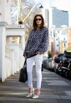 LOOK- Ideas de outfits para el fin de semana! Jeans Blancos.