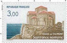 Timbre : 1985 ÉGLISE DE TALMONT Saintonge Romane   WikiTimbres