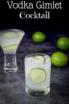 The classic vodka gimlet recipe has only 3 ingredients – vodka, fresh lime juice and simple syrup! Perfectly refreshing and delightfully delicious! Once you make it like this, you'll never use bottled lime juice again! Easy Lemon Drop Martini Recipe, Salty Dog Cocktail Recipe, Simple Cocktail Recipes, Vodka Recipes, Martini Recipes, Alcohol Drink Recipes, Margarita Recipes, Fun Drinks, Yummy Drinks