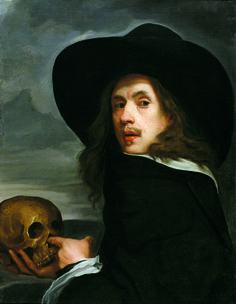Michiel Sweerts. Autoretrat amb na calavera.1660. Oli sobre tela. La Haia: Netherlands Institute for Art History