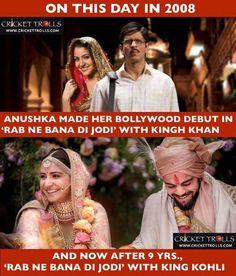 From reel life to real life- 'Rab ne bana di jodi' Anushka Sharma Virat Kohli - http://ift.tt/1ZZ3e4d
