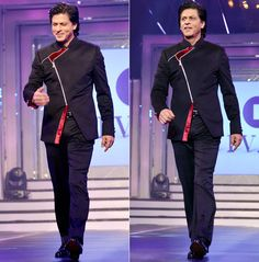 Shah Rukh Khan walking on the ramp at an event to honour Yash Chopra #Bollywood #Fashion #Style