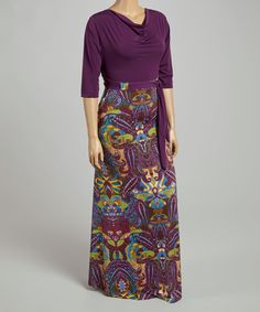 Loving this Purple & Green Paisley Tapestry Maxi Dress - Plus on #zulily! #zulilyfinds