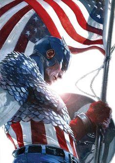DC Comics art by Gabriele Dell'Otto | captain america, gabriele del'otto, comics, comic art, comic