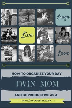 how to organize your day as a twin mom
