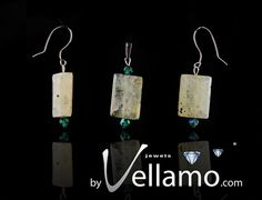 Earrings and pendant with prehnite gemstones and by byVellamo, $28.00