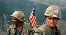 Marines move through a landing zone, December AP Photo - Vietnam War. Photo Vietnam, Vietnam War Photos, North Vietnam, Vietnam Veterans, Us Marines, Vietnam History, American War, American History, American Soldiers