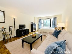 Check out this very spacious studio in Midtown East. #NYC http://www.nyhabitat.com/new-york-apartment/furnished/16446