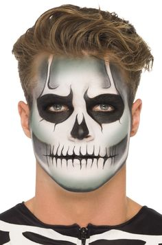 Glow in the Dark Skeleton Make-Up Kit - this would be cool to use to create a Jack Skellington face too! #Halloween #costumes #skeletons