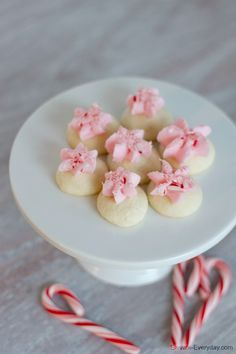 These cute little cookies will literally melt in your mouth! They are so little you will continuing popping them in and before you know it, they'll be gone! I found this recipe from Land O Lakes aw...