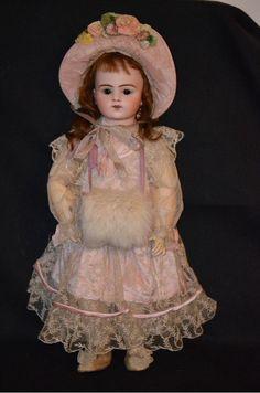 "Antique French Bisque BeBe Bru Doll Dressed Gorgeous 19"" Tall BRU JneR 8"