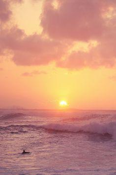 wonderous-world:  Turtle Bay at Sunset byTianna
