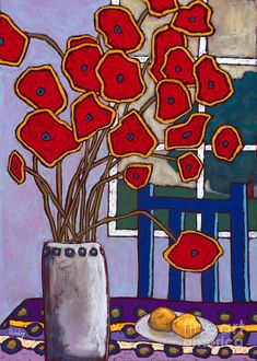 Abstract Flower Art, Oil Painting Abstract, Watercolor Paintings, Original Paintings, Poppies Painting, Art Drawings For Kids, Motif Floral, Naive Art, Pastel Art