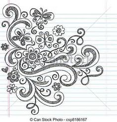 Line Drawings of Flowers and Butterflies - Bing Images