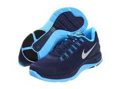 Nike Lunarglide+ 4 Midnight Navy/Blue Glow/Reflective Silver - Zappos.com Free Shipping BOTH Ways