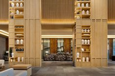 Crowne Plaza Nanchang By Yang Bangsheng & Associates Group | YANG & Associates Group Modern Minimalist, Minimalist Design, Modern Design, Exterior Design, Interior And Exterior, Interior Ideas, Modern Hotel Lobby, Beam Structure, Hotel Lounge