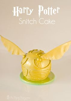 a full tutorial for creating your own Harry Potter birthday party golden snitch cake